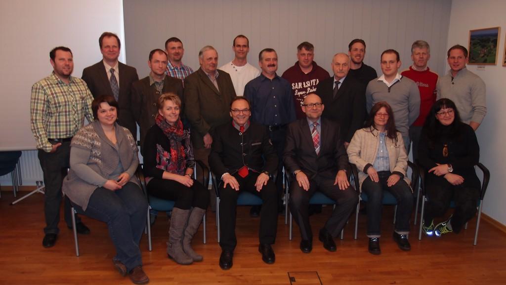 Foto vom neu angelobten Gemeinderat 2015