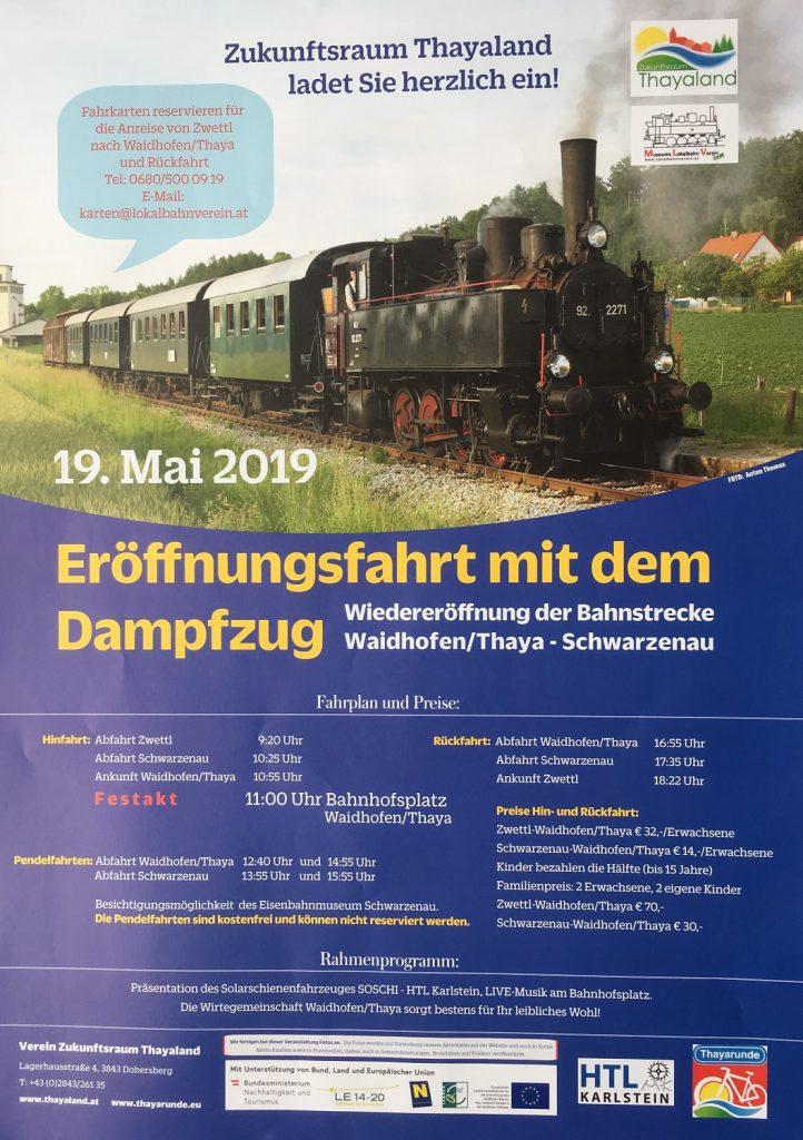 Erffnungsfahrt mit dem Dampfzug - Waidhofen an der Thaya